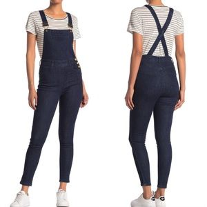 NWT WEWOREWHAT High-rise Skinny Overalls Small